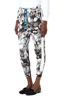PAUL BY PAUL SMITH Rose-print jogging bottoms
