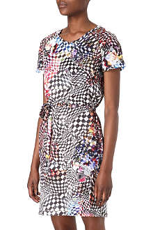 PAUL BY PAUL SMITH Rose and check patterned dress