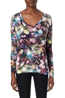 PAUL BY PAUL SMITH Rose-print long-sleeved t-shirt