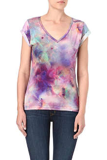 PAUL BY PAUL SMITH Marble floral-print t-shirt