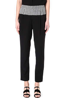 PAUL SMITH BLACK Slouchy silk trousers