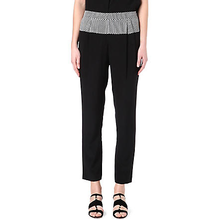 PAUL SMITH BLACK Slouchy silk trousers (Black