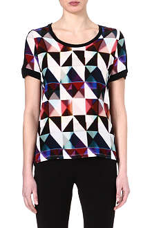 PAUL SMITH BLACK Warped-front t-shirt