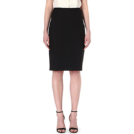 PAUL SMITH BLACK Classic wool pencil skirt (Black