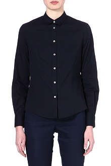 PAUL SMITH BLACK Cotton-blend floral cuff shirt
