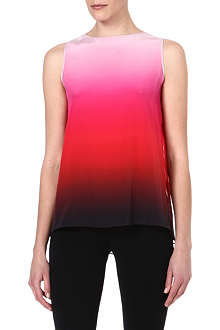 PAUL SMITH BLACK Pleated-back ombré silk top