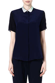 PAUL SMITH BLACK Contrast collar shirt
