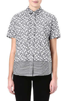 PAUL SMITH BLACK Rose-print shirt