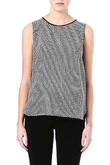 PAUL SMITH BLACK Houndstooth-print top