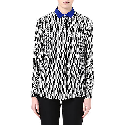 PAUL SMITH BLACK Houndstooth-print shirt (Black/white