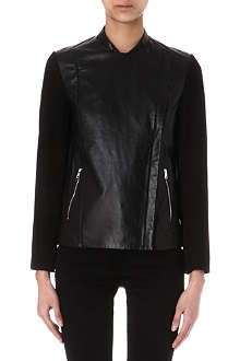 PAUL SMITH BLACK Suede and leather jacket