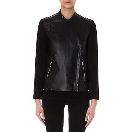 PAUL SMITH BLACK Suede and leather jacket (Black