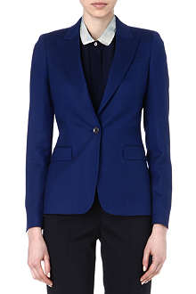 PAUL SMITH BLACK Wool-blend single-button blazer