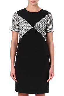PAUL SMITH BLACK Mesh-panel silk dress