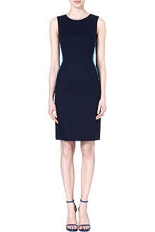 PAUL SMITH BLACK Linen-blend shift dress