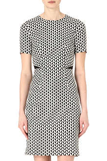 PAUL SMITH BLACK Geometric shift dress