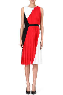 PAUL SMITH BLACK Tri-colour pleated dress