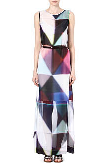 PAUL SMITH BLACK Triangle-print silk maxi dress