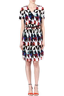 PAUL SMITH BLACK Triangle-print silk dress