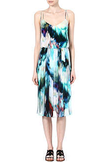 PAUL SMITH BLACK Floral-print silk dress