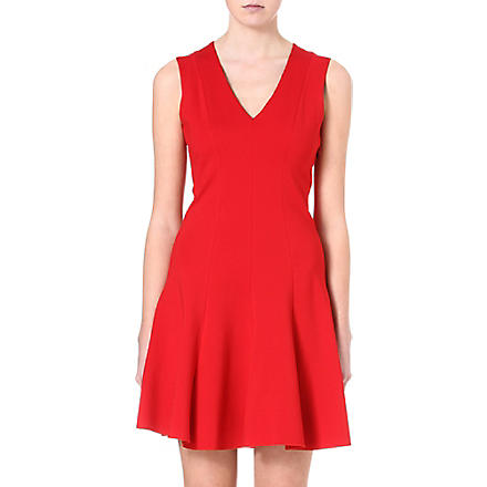 PAUL SMITH BLACK Flared jersey dress (Red