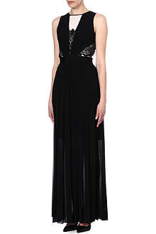 PAUL SMITH BLACK Monochrome lace maxi dress
