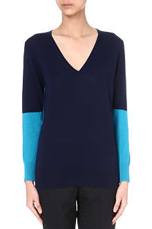 PAUL SMITH BLACK Colour-block cashmere jumper