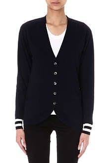 PAUL SMITH BLACK Grandad wool cardigan