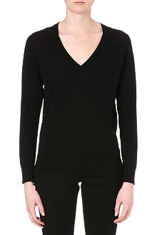 PAUL SMITH BLACK V-neck knitted jumper