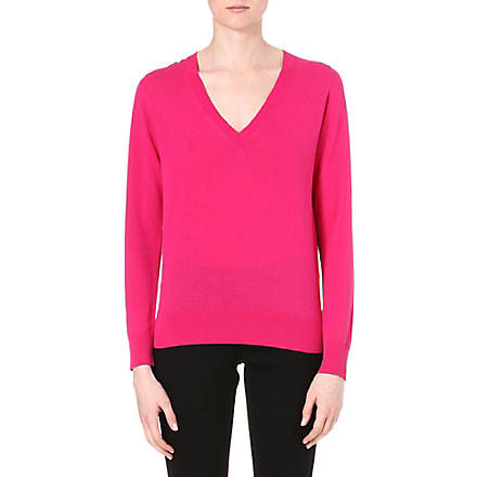 PAUL SMITH BLACK V-neck knitted jumper (Pink