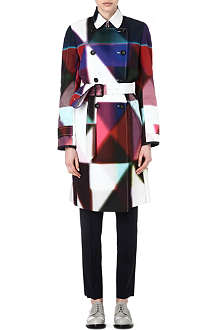PAUL SMITH BLACK Printed mac coat