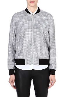PAUL SMITH BLACK Houndstooth bomber jacket
