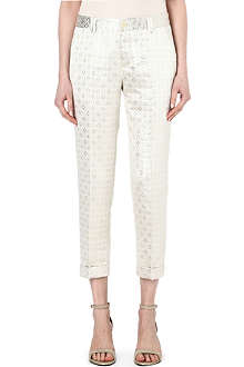 PAUL BY PAUL SMITH Metallic jacquard trousers
