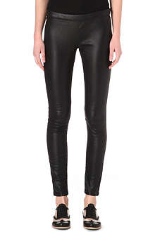 PAUL BY PAUL SMITH Leather panel trousers