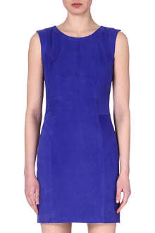PAUL BY PAUL SMITH Suede sleeveless shift dress