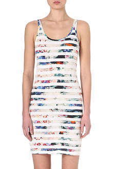 PAUL BY PAUL SMITH Floral-stripe jersey dress