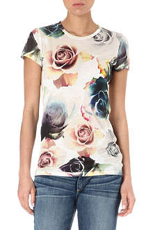 PAUL BY PAUL SMITH Floral cotton t-shirt