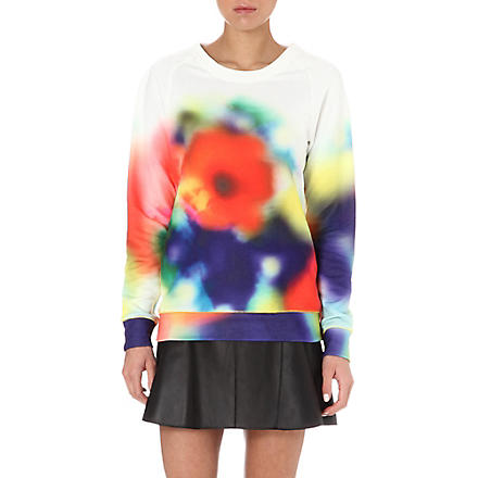 PAUL BY PAUL SMITH Blurred floral-print sweatshirt (Multi