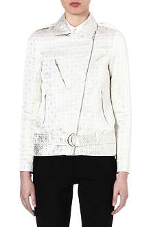 PAUL BY PAUL SMITH Jacquard biker jacket
