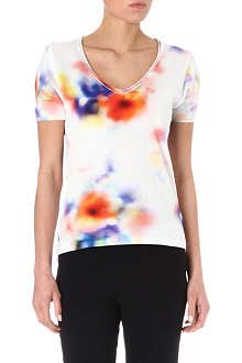 PAUL BY PAUL SMITH Blurred floral cotton t-shirt