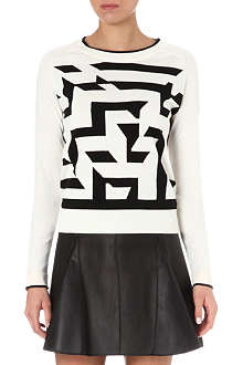 PAUL BY PAUL SMITH Large maze knitted jumper