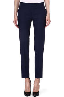 PAUL SMITH BLACK Slim wool-blend trousers