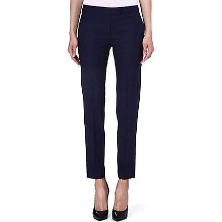 PAUL SMITH BLACK Slim wool-blend trousers (Navy
