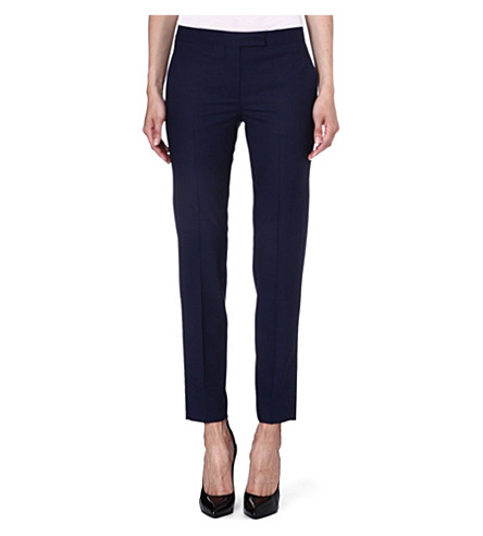 PAUL SMITH BLACK Slim wool-blend trousers (Navy