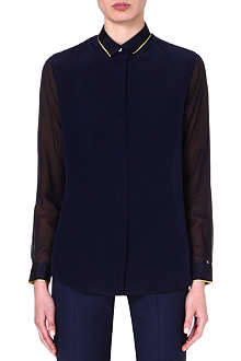 PAUL SMITH BLACK Contrast silk shirt