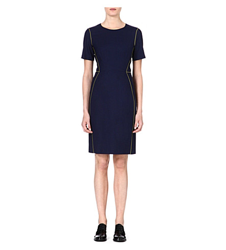 PAUL SMITH BLACK Contrast shift piping dress (Navy