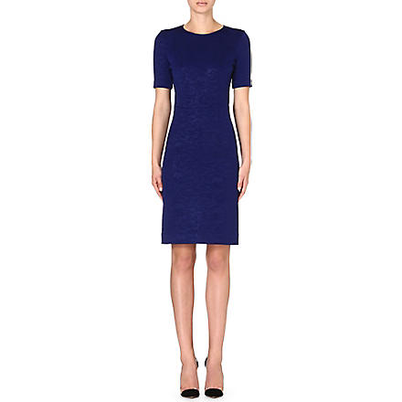 PAUL SMITH BLACK A-line jacquard dress (Blue