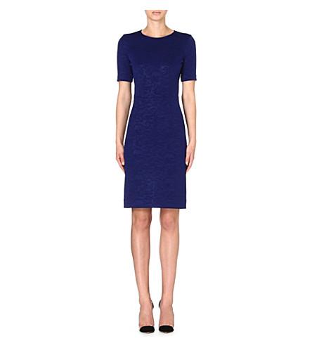 PAUL SMITH BLACK A-line jacquard dress (Blue