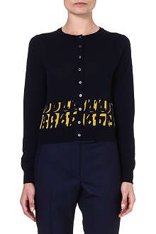 PAUL SMITH BLACK Contrast Letters cardigan