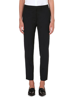 PAUL SMITH BLACK Slim-fit tapered wool trousers